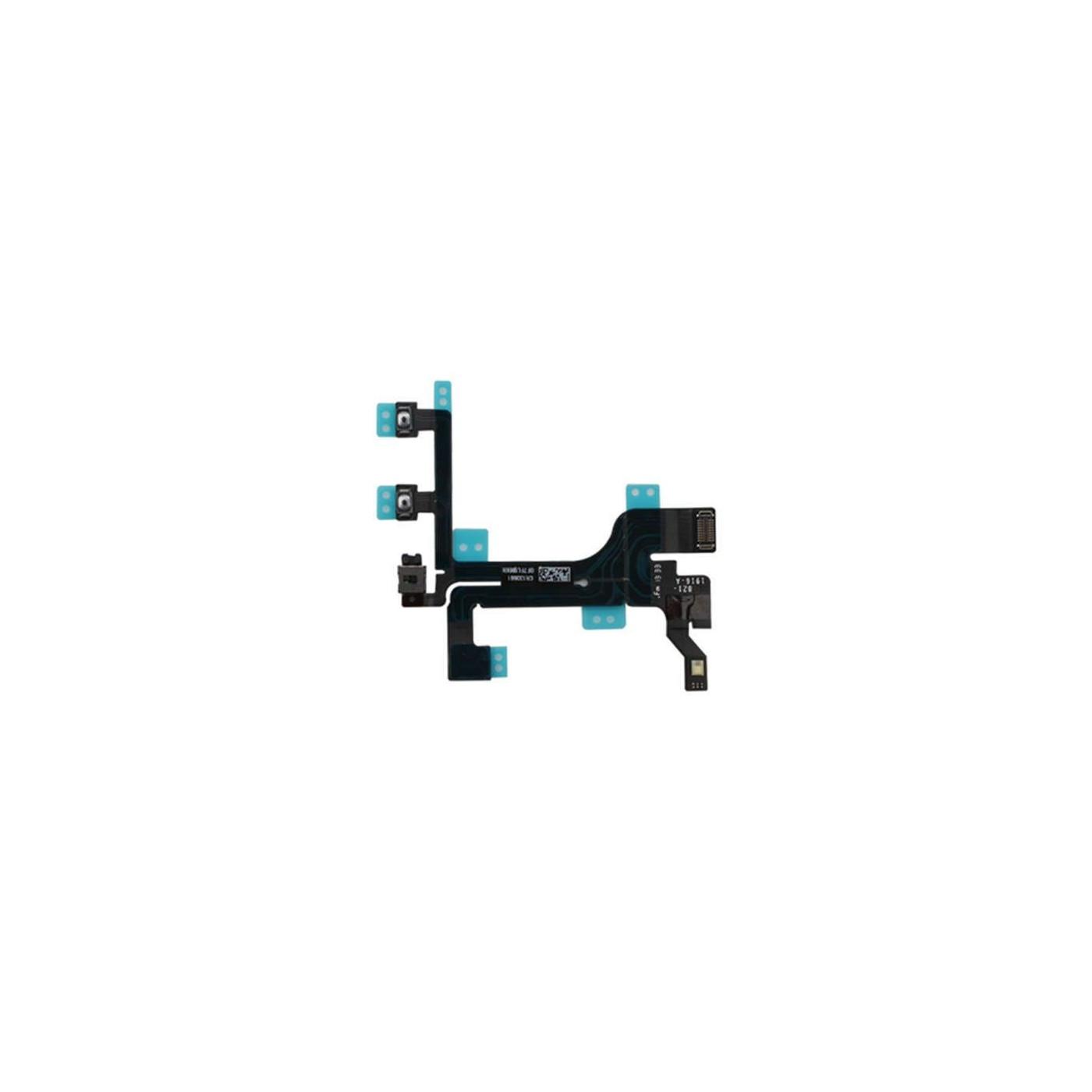 Bouton de volume muet d'alimentation pour câble plat flexible iphone 5c
