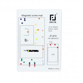 Tappeto magnetico mappa viti riparazione iPhone X tools 10 cm x 15 cm tappetino