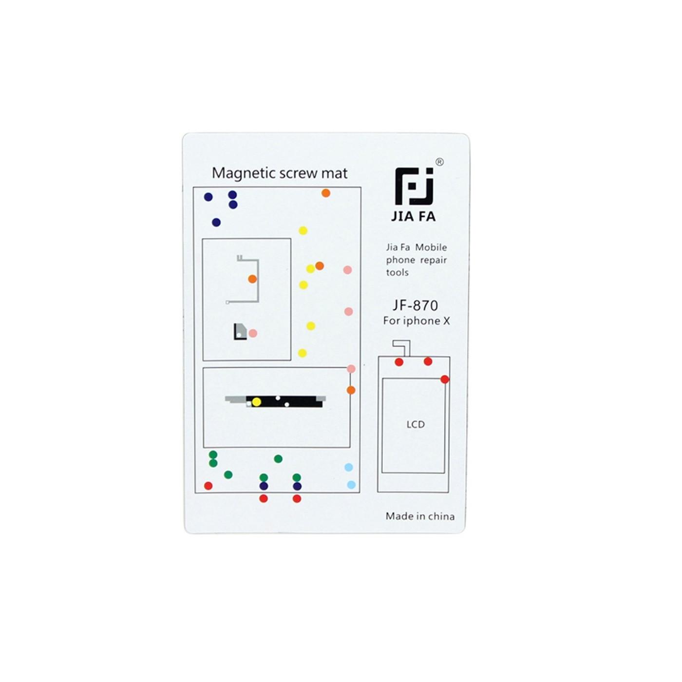 Vis pour carte magnétique pour tapis réparation iPhone X 10 cm x 15 cm mat