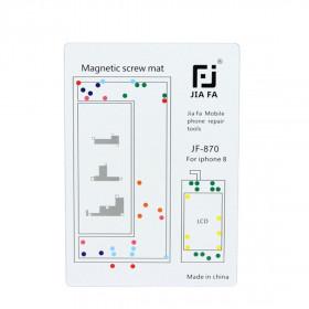 Tornillos de mapa de alfombras magnéticos reparar iPhone 8 herramientas 26 cm x 25 cm mat