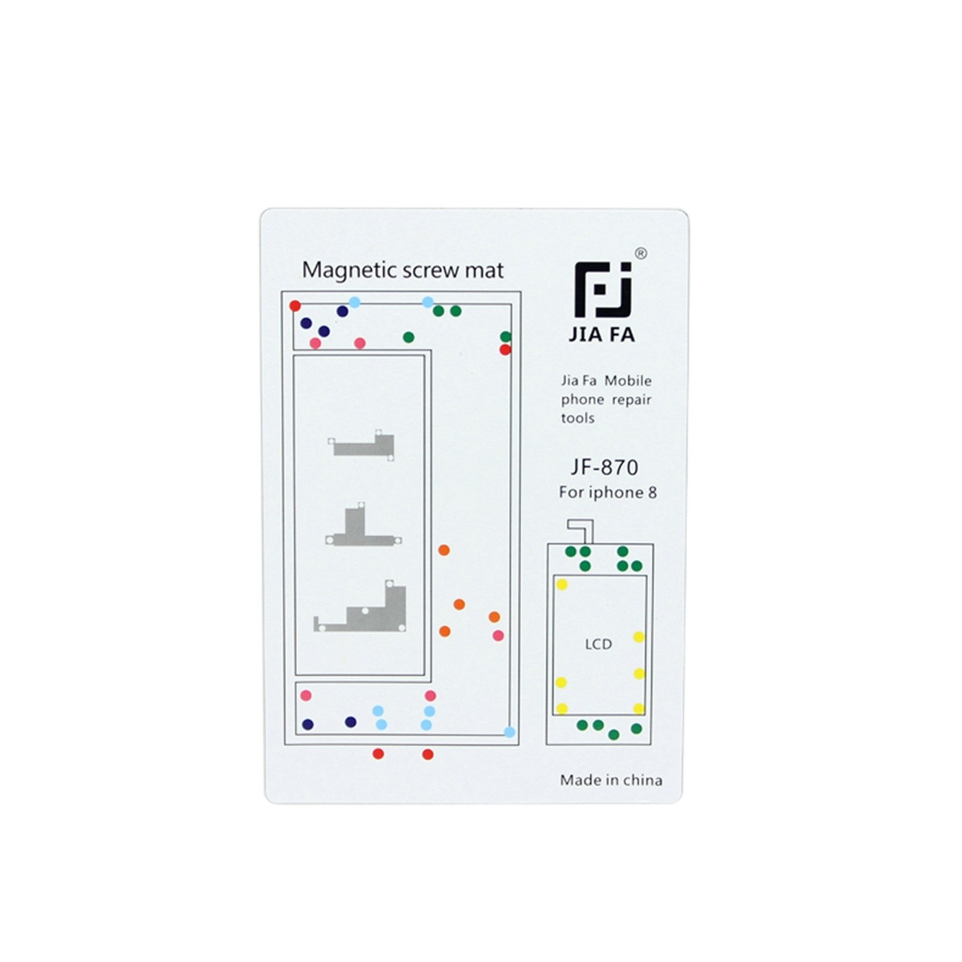 Tappeto magnetico mappa viti riparazione iPhone 8 tools 15 cm x 10 cm tappetino