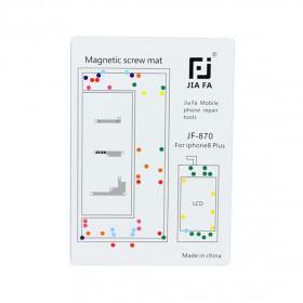 Tappeto magnetico mappa viti riparazione iPhone 8 Plus tools 26 cm x 25 cm