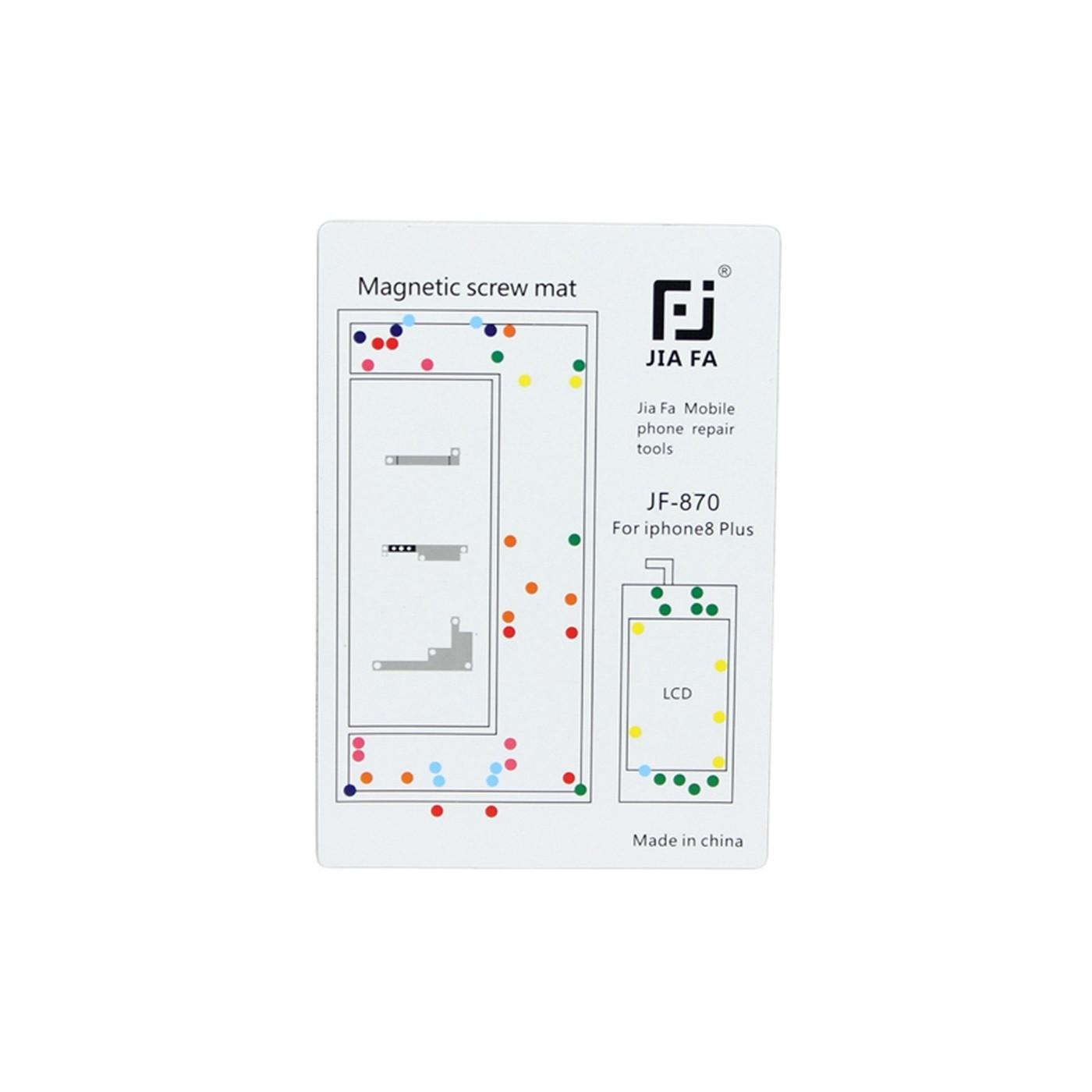 Tornillos magnéticos de reparación de mapas de alfombras iPhone 8 Plus herramientas de 15 cm x 10 cm