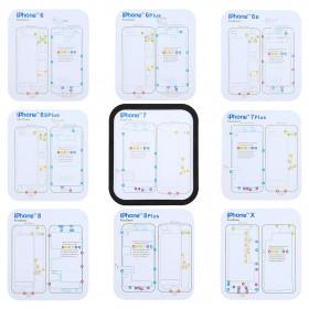7 in 1 tappeto magnetico mappa viti Iphone X - 8 - 7 - 6s - 6 e modelli PLUS