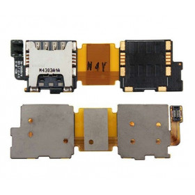 Flat Flex Sim card reader for samsung galaxy s5 single accommodation G900