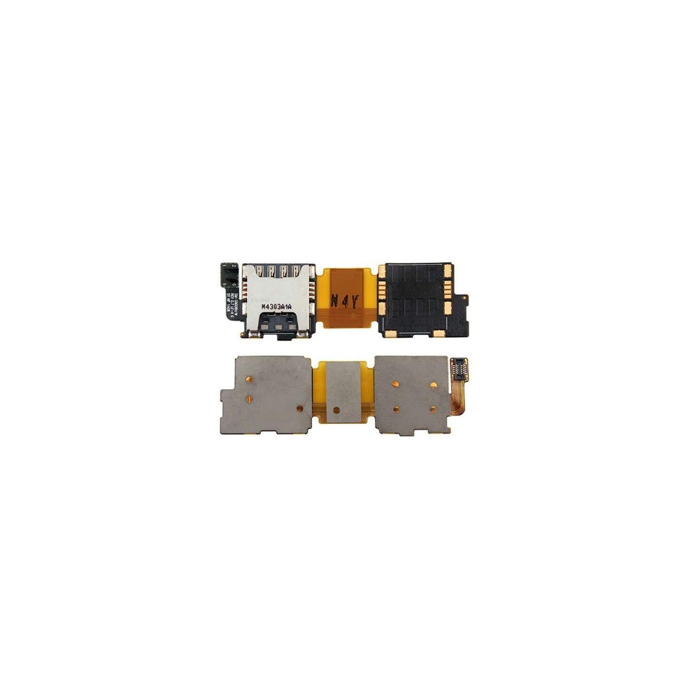Flat flex lettore Sim card per samsung galaxy s5 singolo alloggio G900