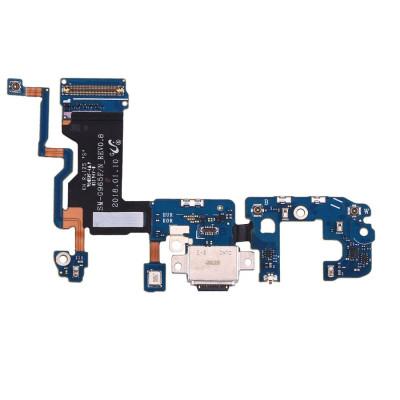 Conector de carga plana flexible para Galaxy S9 G965F con micrófono