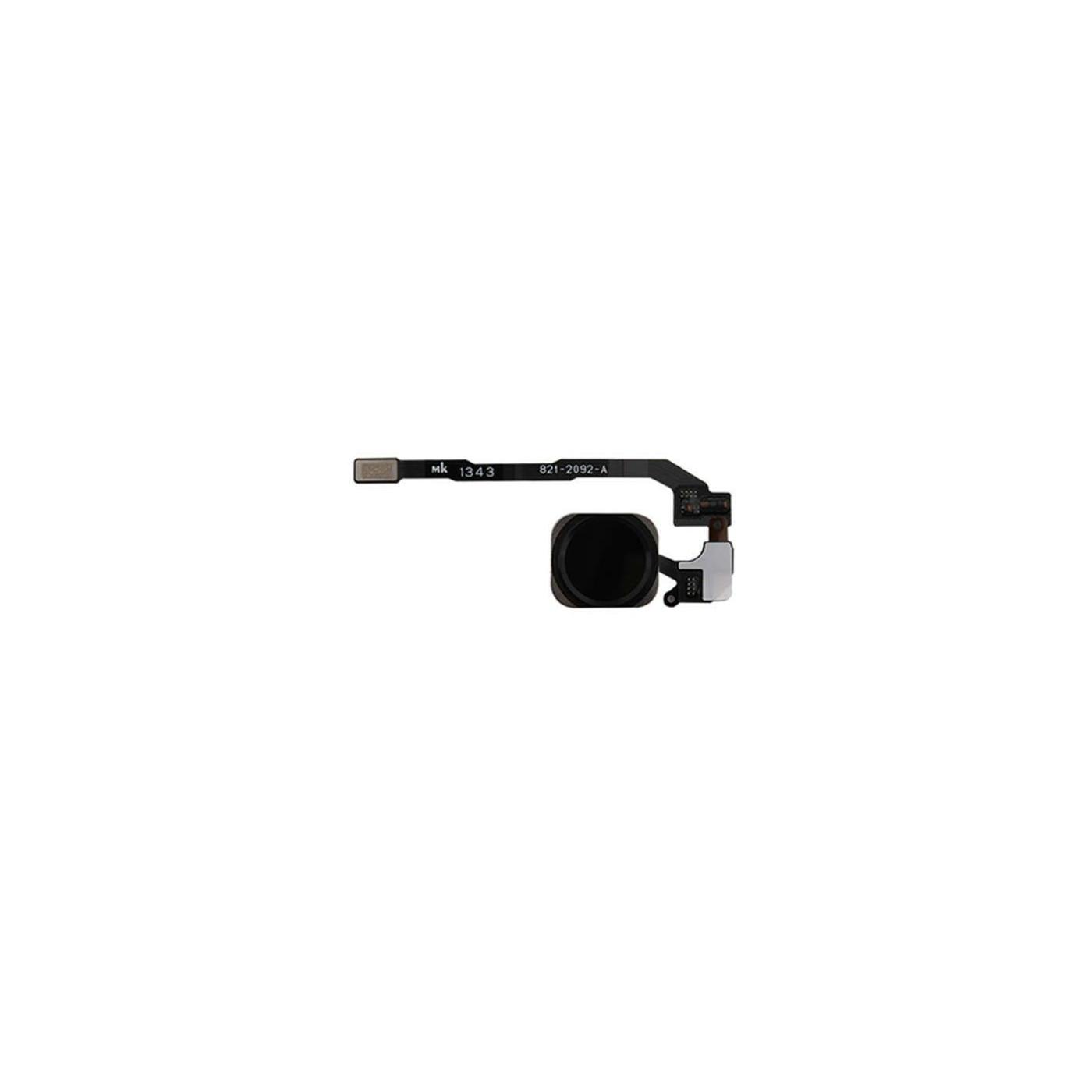 Botón de inicio para el lector de Apple iphone 5s sin impresión montaje negro flex reemplazo