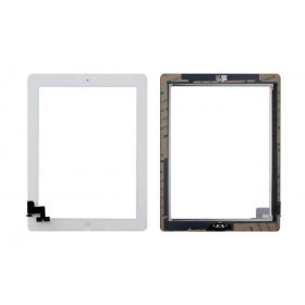 Touch screen for apple ipad 2 wifi 3g glass white screen + installed adhesive