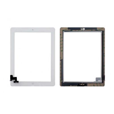 Touch Screen Per Apple Ipad 2 Bianco A1395 A1396 A1397 Wifi E 3G Vetro + Tasto Home