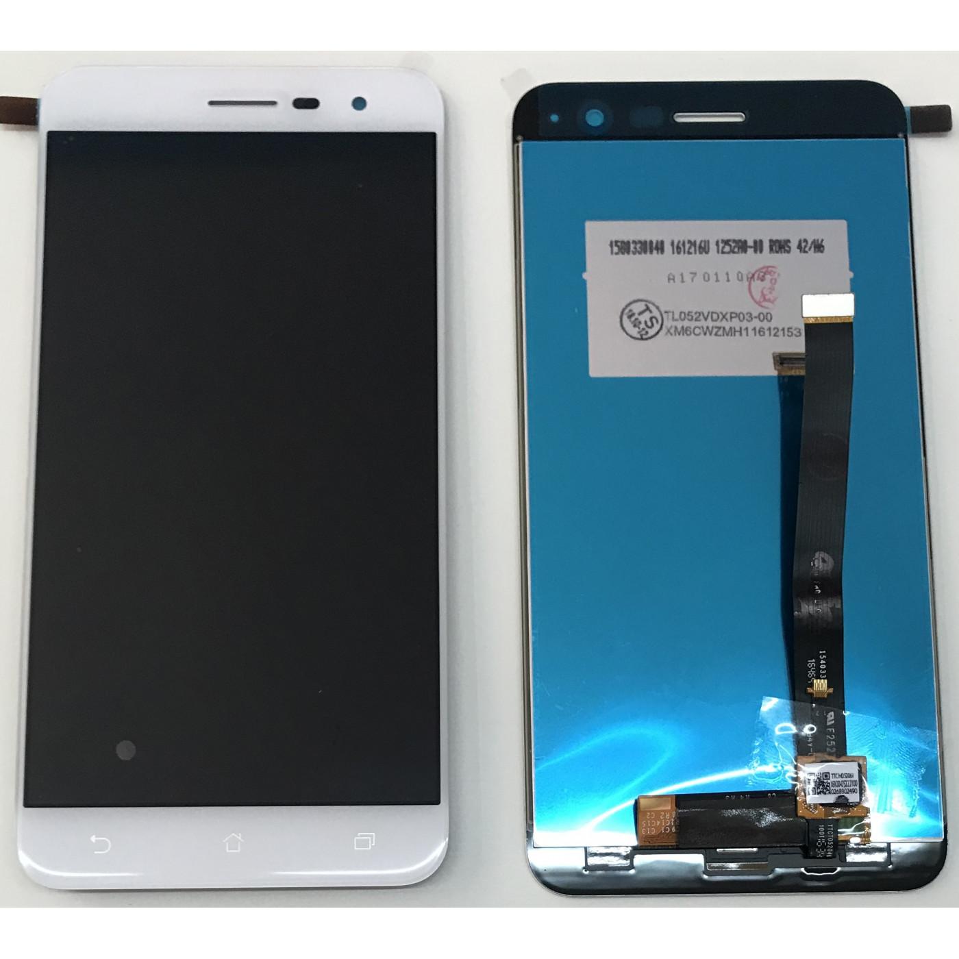 TOUCH SCREEN VETRO + LCD DISPLAY Per Asus Zenfone 3 ZE520KL Z017D Z017DA white