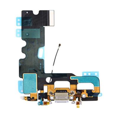 Conector de carga flex plana para iphone 7 Gris Dock Micrófono de audio