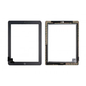 Touch screen for apple ipad 2 wifi 3g black glass screen installed sticker +