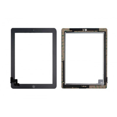 PANTALLA TÁCTIL Apple iPad 2 NEGRO A1395 A1396 A1397 WiFi y 3G GLASS + HOME BOTÓN