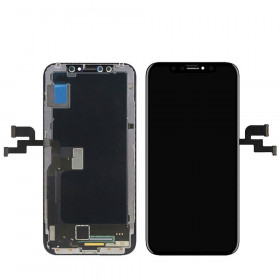 Touch screen + lcd display + frame apple iphone X nero vetro schermo