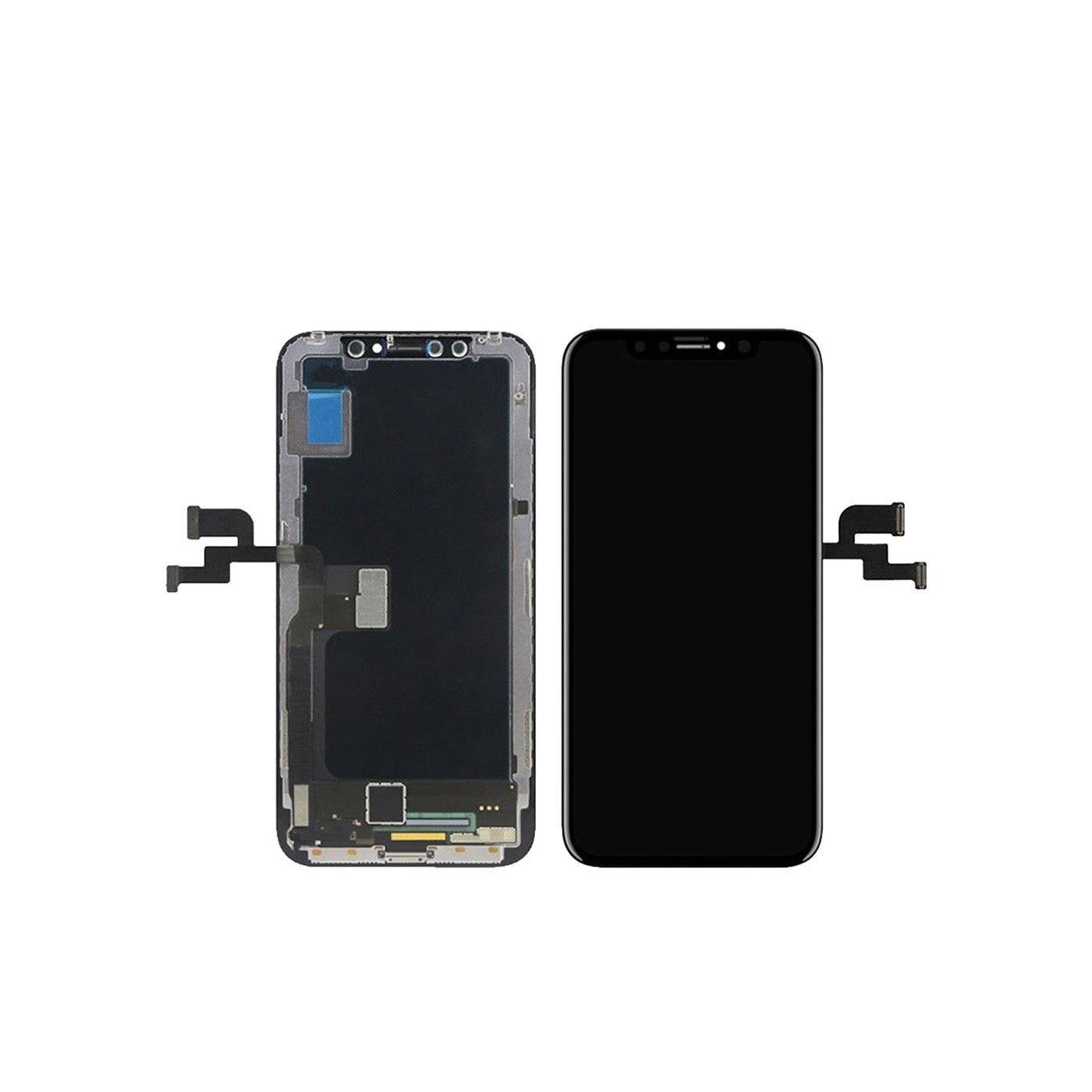 Écran tactile + écran LCD + cadre écran en verre noir Apple iPhone X