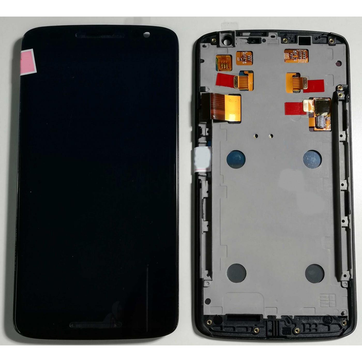 TOUCH SCREEN VETRO + LCD DISPLAY + FRAME Motorola Moto X Play XT1562 XT1563 Nero