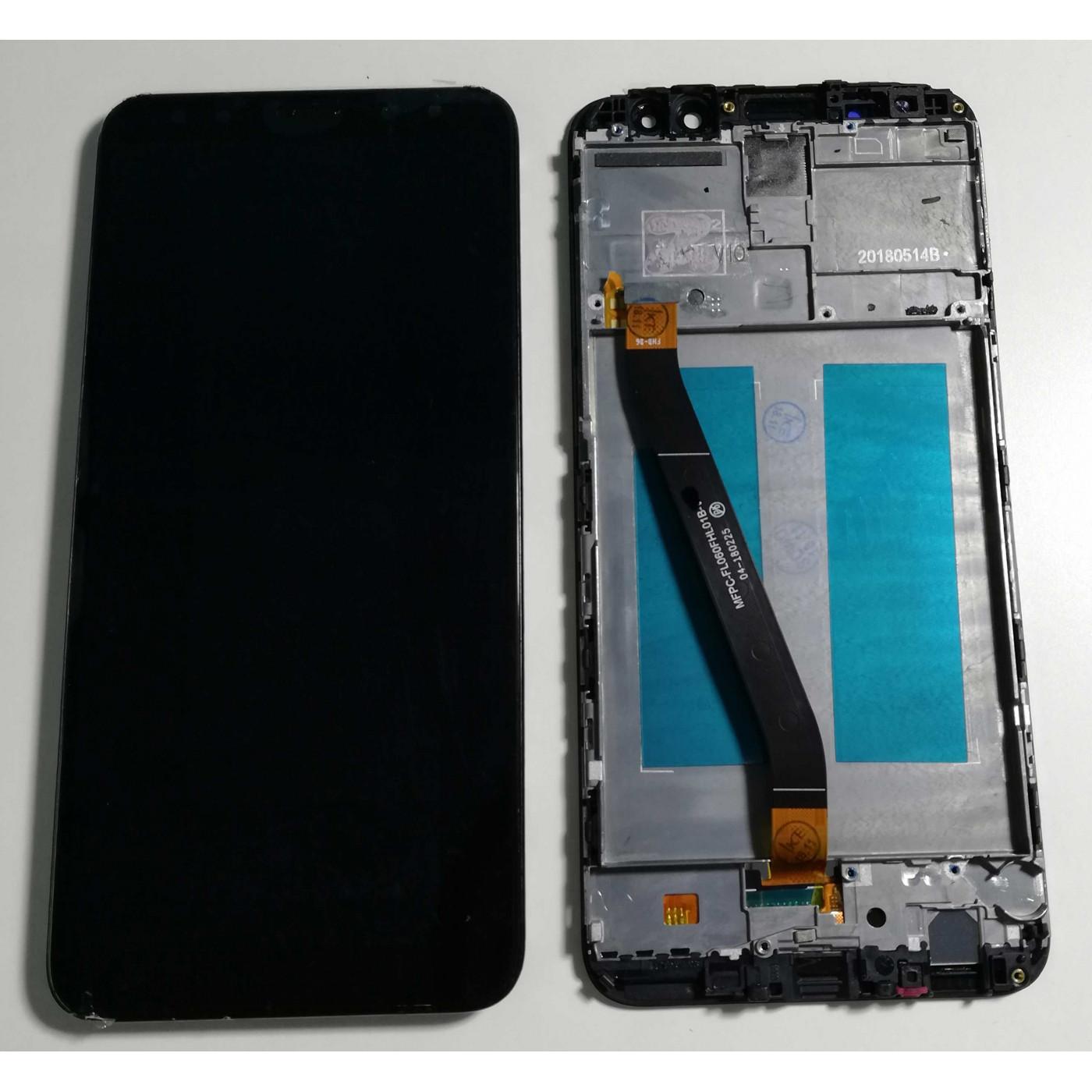 LCD ECRAN TACTILE EN VERRE + CADRE Pour HUAWEI MATE LITE 10 RNE L21 L01 NOIR
