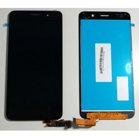 TOUCH SCREEN VETRO + LCD DISPLAY ASSEMBLATI Nero PER Huawei Ascend SCL-L01