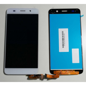 TOUCH SCREEN VETRO + LCD DISPLAY ASSEMBLATI Bianco Huawei Ascend SCL-L01