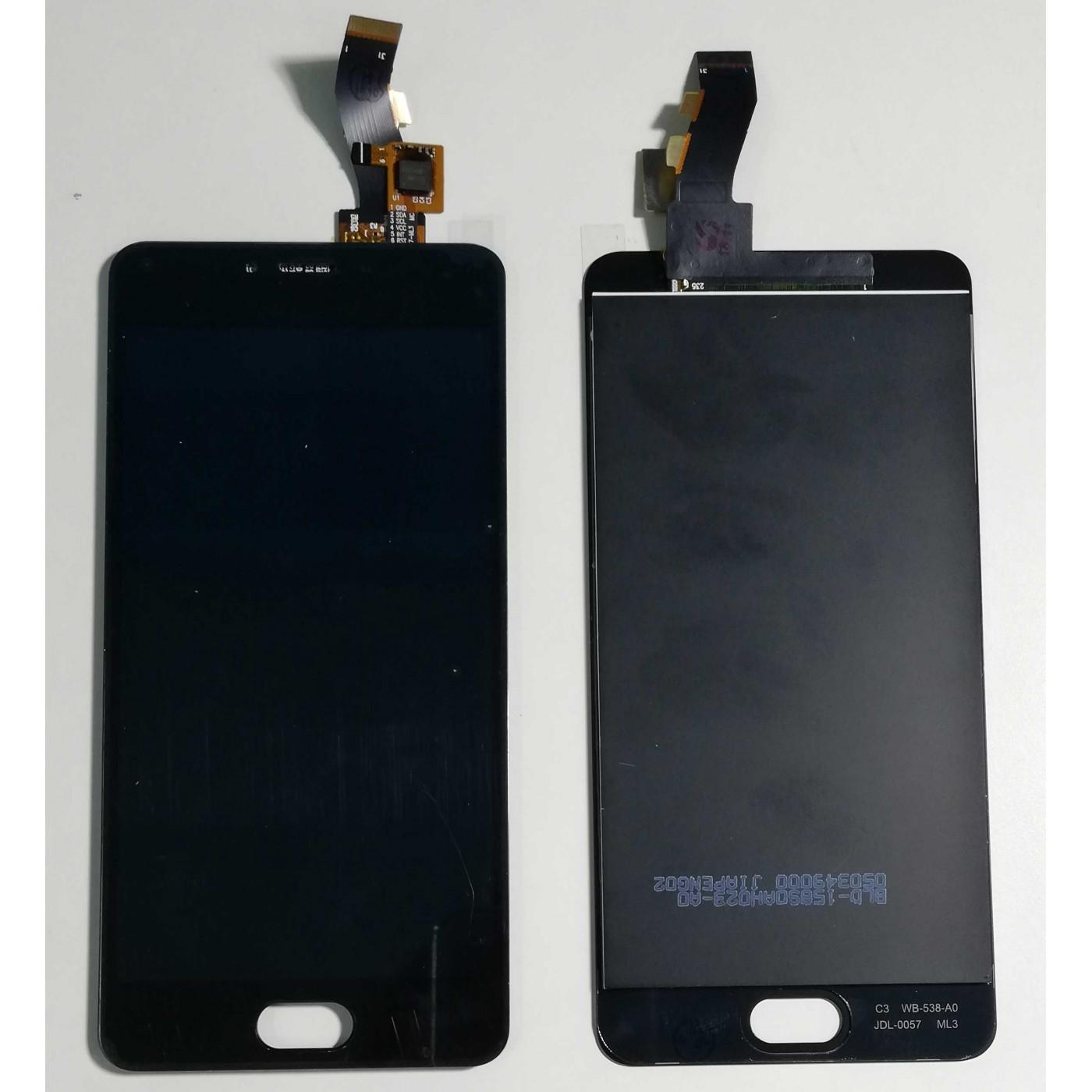 Screen-Glas + LCD Anzeige MEIZU M3S Y685C Y685H Schwarz