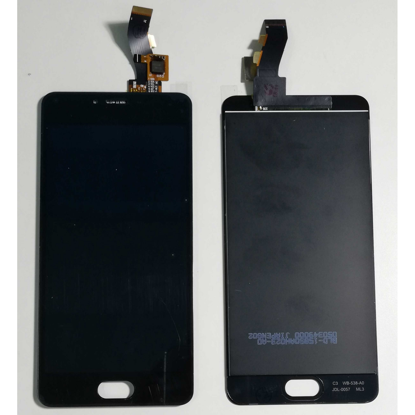 TOUCH SCREEN VETRO + LCD DISPLAY ASSEMBLATO MEIZU M3S Y685C Y685H Nero