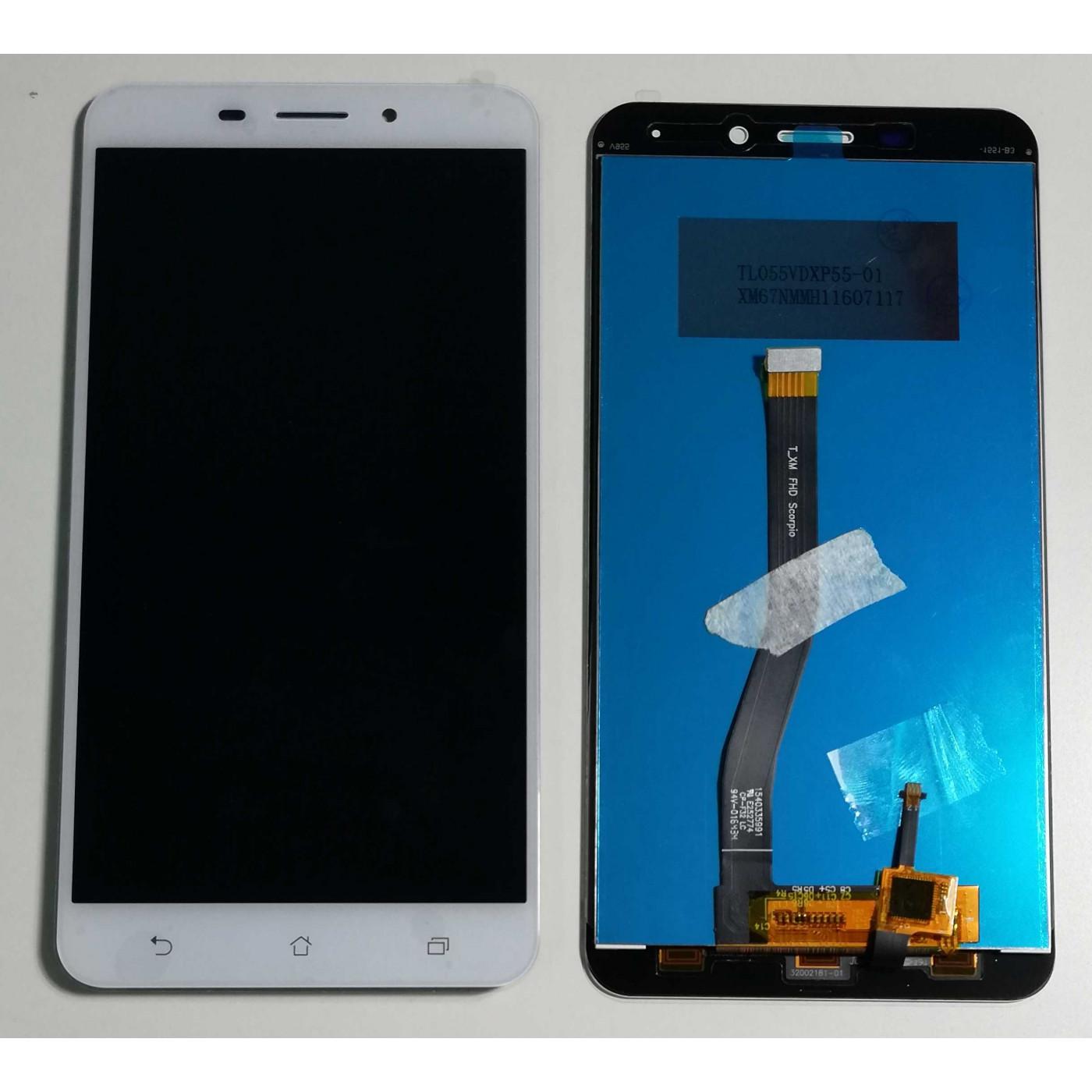 TOUCH SCREEN VETRO + LCD DISPLAY Per Asus Zenfone 3 Laser ZC551KL Z01BS Bianco