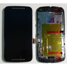 TOUCH SCREEN + LCD DISPLAY + FRAME Motorola Moto G2 XT1063 XT1064 XT1068 Nero