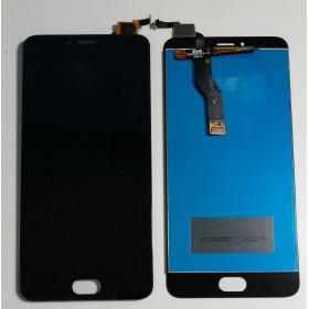 PANTALLA TÁCTIL DE VIDRIO + ensamblaje de la pantalla LCD MEIZU M3 NOTAS L681H Negro