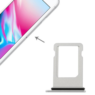 Soporte de tarjeta SIM iPhone de Apple 8 ranura de deslizamiento SILVER bandeja de reemplazo de CART