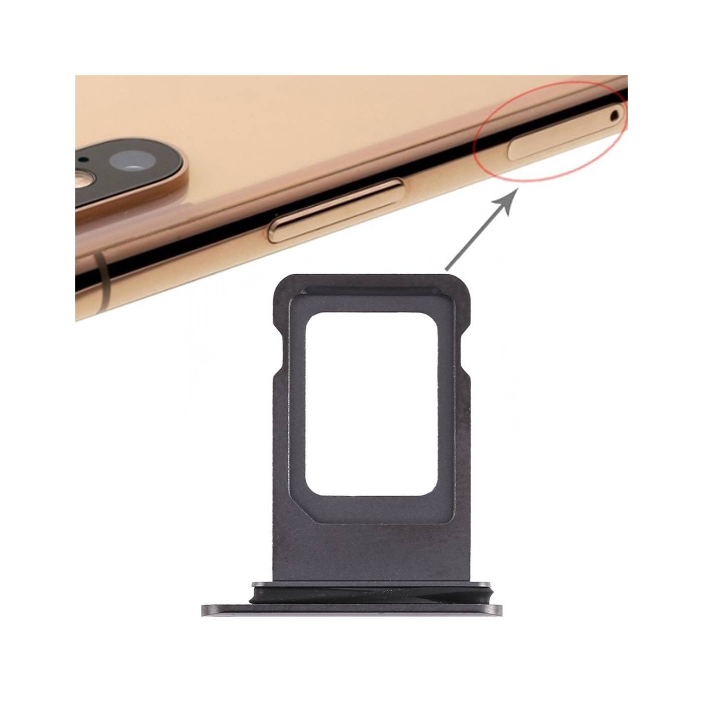 SIM CARD HOLDER Apple iPhone XS MAX BLACK SLOT SLIDE CARRIAGE TRAY REPLACEMENT