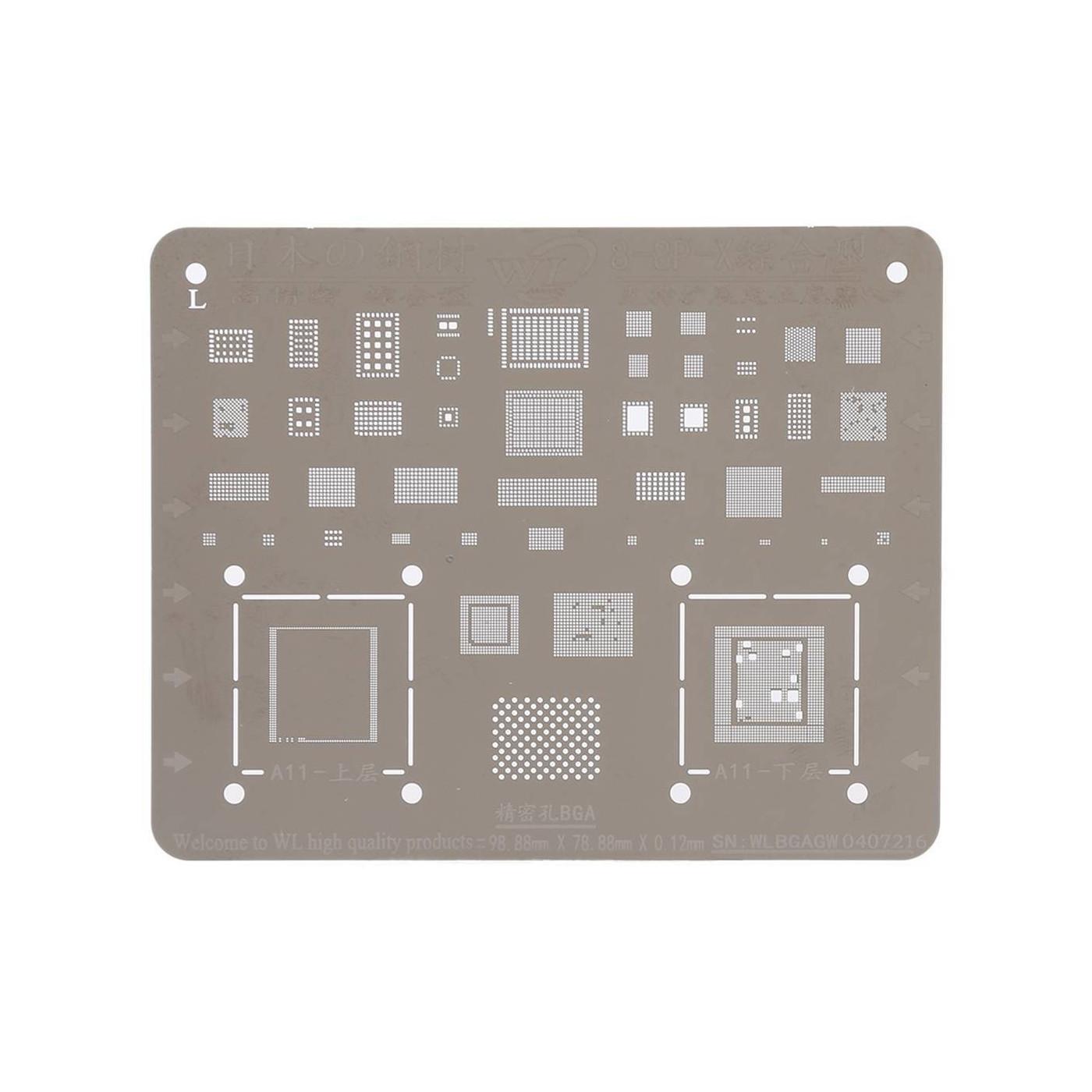 Mobile Phone Rework iPhone X - 8 - 8 Plus Repair BGA Reballing Stencils