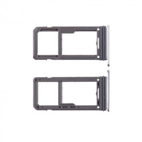 SIM HOLDER for Samsung Galaxy S8 - S8 Plus Silver SLOT TROLLEY