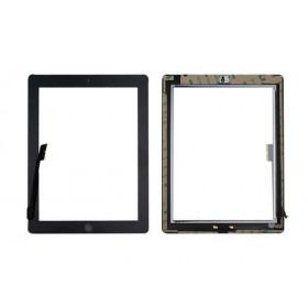 PANTALLA TÁCTIL Apple iPad 4 negro A1458 A1459 A1460 WiFi y 3G GLASS + tecla de inicio