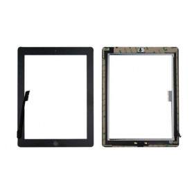 Touch screen for apple ipad 4 black glass screen + adhesive already installed