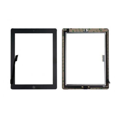 Pantalla Táctil Para Apple Ipad 4 Negro A1458 A1459 A1460 Wifi Y Botón De Inicio 3G +