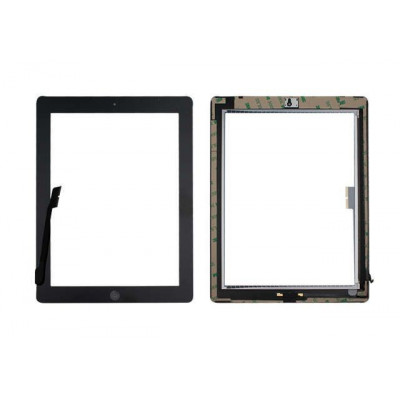 TOUCH SCREEN Apple iPad 4 Schwarz A1458 A1459 A1460 WiFi und 3G GLASS + Home-Taste