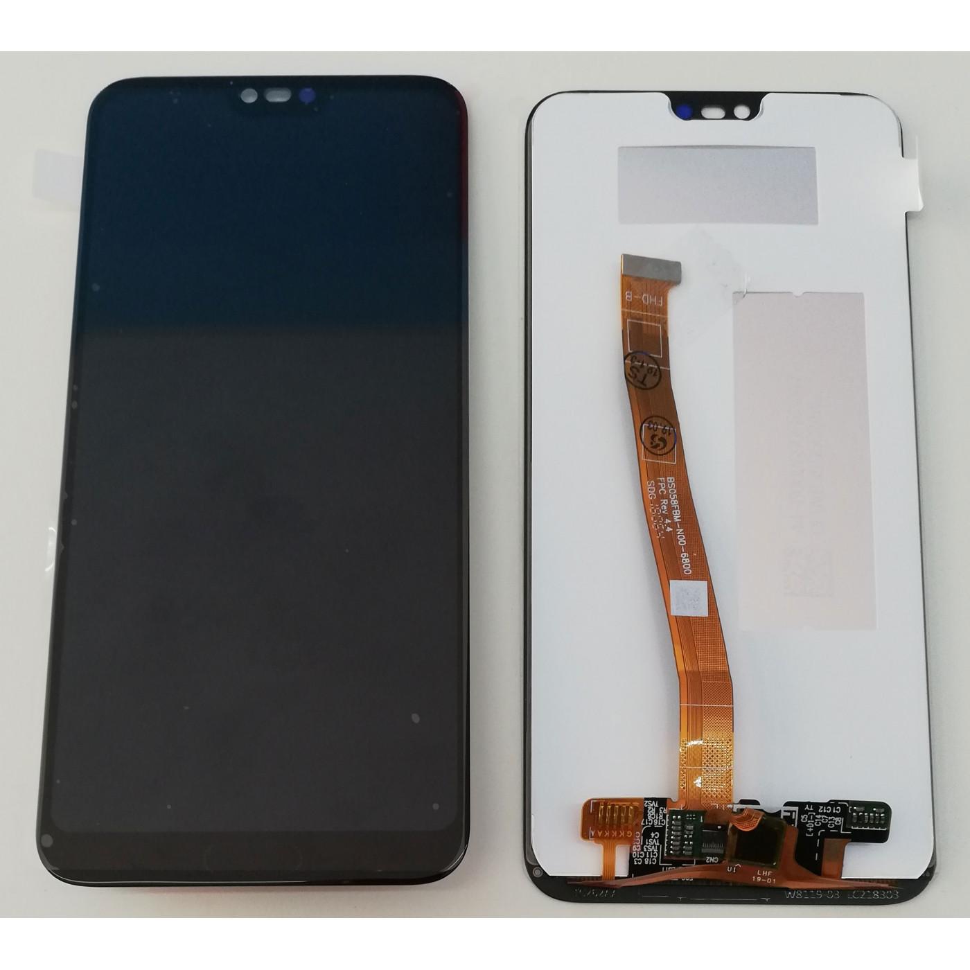 TOUCH SCREEN VETRO + LCD DISPLAY Per HUAWEI HONOR 10 NERO