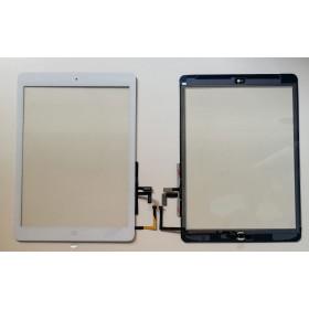 Pantalla táctil para apple ipad air wifi 3g etiqueta engomada de la pantalla de vidrio blanco