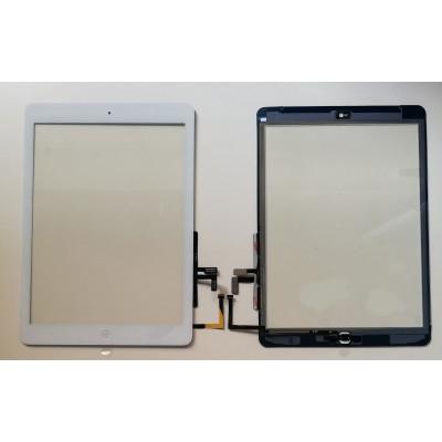 Écran tactile pour apple ipad air wifi 3g verre blanc écran autocollant installé