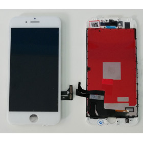 DISPLAY LCD VETRO TOUCH per Apple iPhone 7 BIANCO SCHERMO ORIGINALE KINGWO