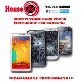 Sostituzione back cover rotta Samsung S7 EDGE S8 S9 PLUS NOTE 8 NOTE 9