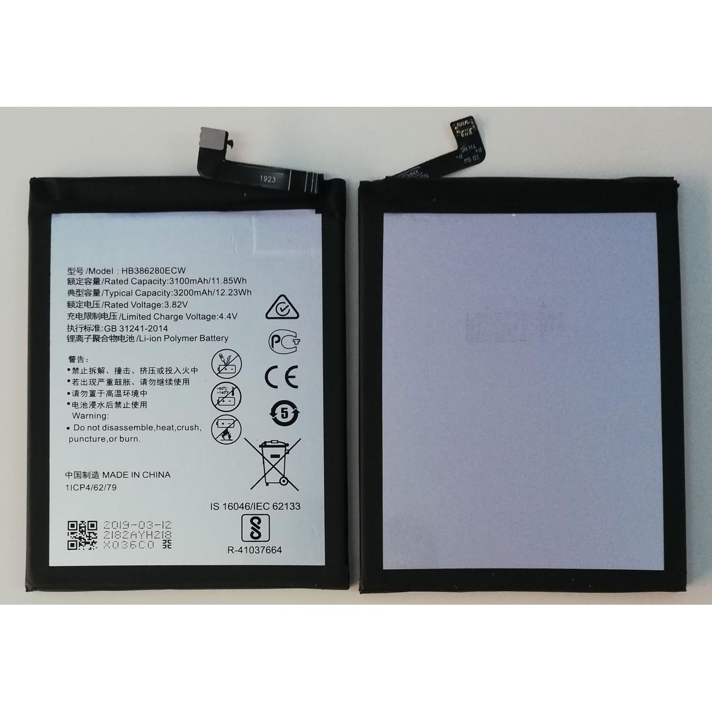 BATTERY for HUAWEI P10 - HONOR 9 VTR-L09 HB386280ECW 3200mAh