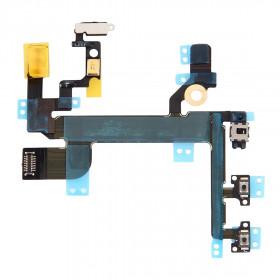FLAT FLEX PER iPhone SE TASTO TASTI PULSANTE VOLUME MUTO POWER PLACCHE METALLO