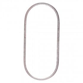 Anello protettivo in metallo fotocamera posteriore per iPhone XS & XS Max bianco