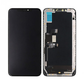 LCD DISPLAY FRAME PER APPLE IPHONE XS MAX TOUCH SCREEN VETRO SCHERMO