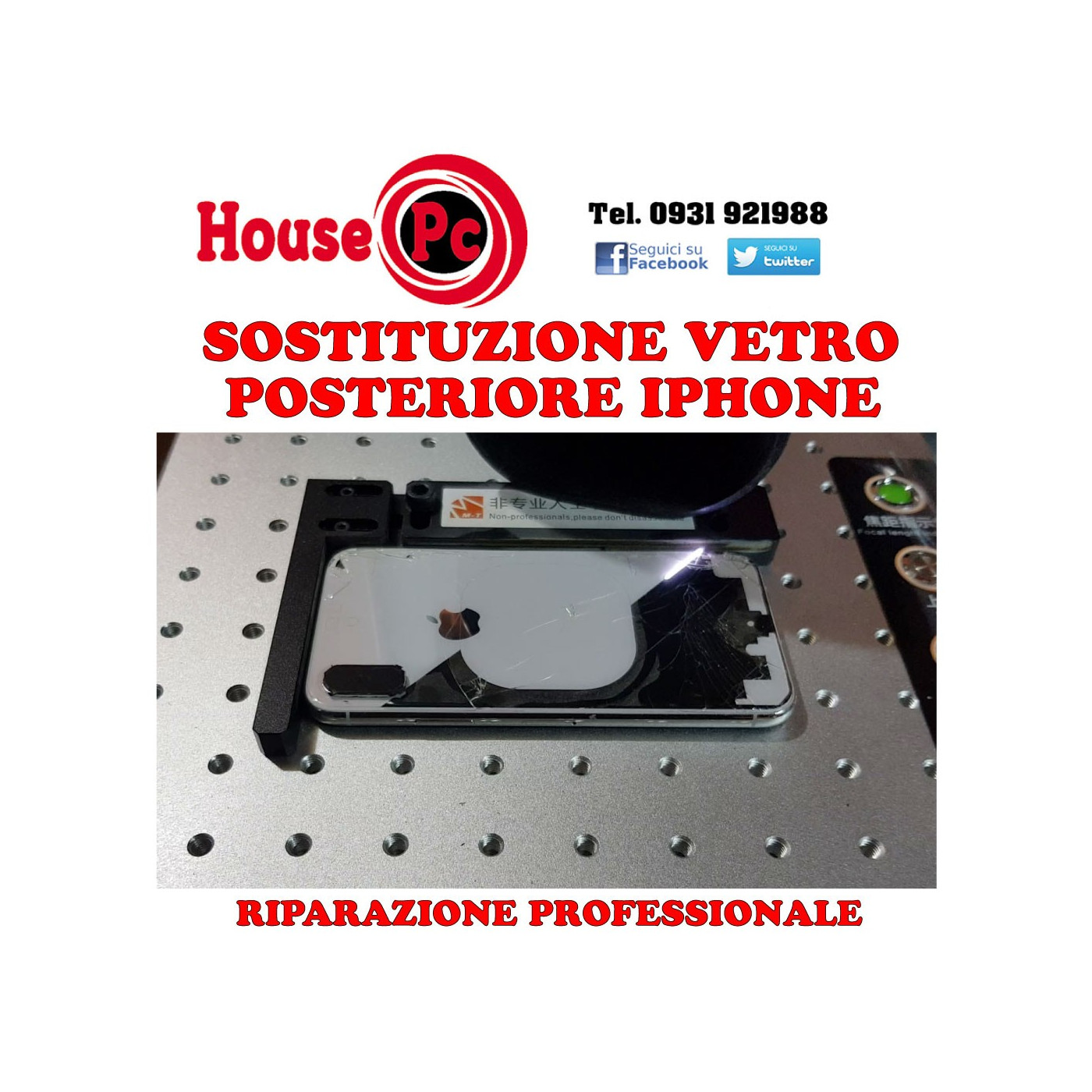 Sostituzione Vetro Posteriore Iphone 8 X Xs Max Xr 11 Pro Riparazio