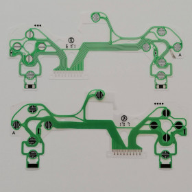 FLAT BUTTONS INTERNAL KEYS REPLACEMENT CONTROLLER SONY PLAYSTATION PS4 V4.0 GREEN