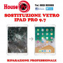 Sostituzione vetro rotto APPLE IPAD PRO 9.7 A1673, A1674, A1675 riparazione display LCD
