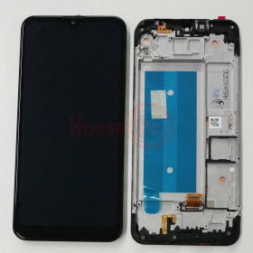 LCD DISPLAY + FRAME FOR LG K40S X430 LMX430EMW TOUCH SCREEN BLACK